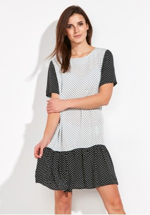 Polka-dot Dress with frill