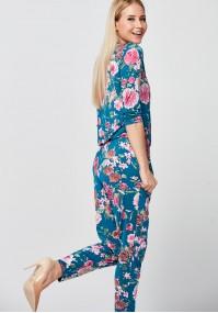 Floral Jumpsuit with envelope neckline