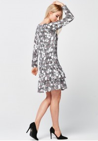 Checkered Dress with double frill