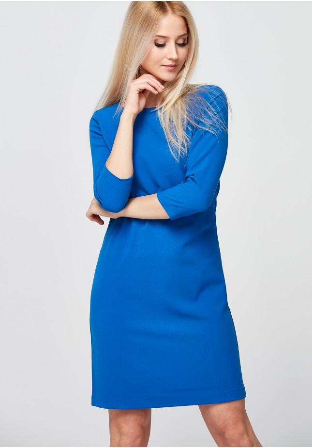 Klasyczna kobaltowa Sukienka