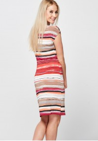 Red Striped Dress