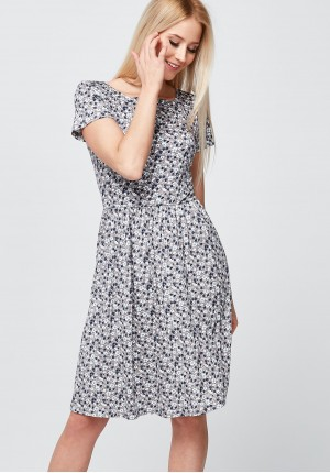 Beige Dress with flowers