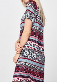 Summer Dress with a burgundy pattern