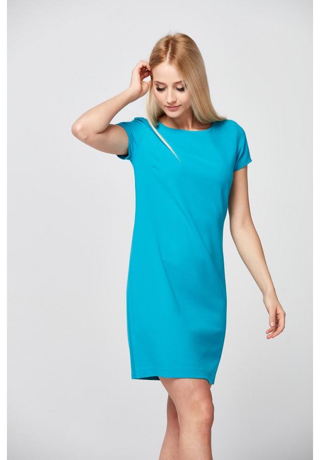 Klasyczna turkusowa Sukienka