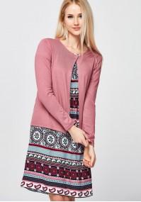 Różowy Sweter na jeden guzik