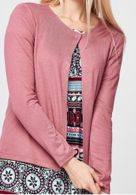 Pink Sweater with one button