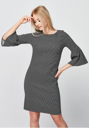 Elegant Dress with bell sleeves