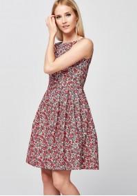 Elegancka Sukienka w drobne kwiatki