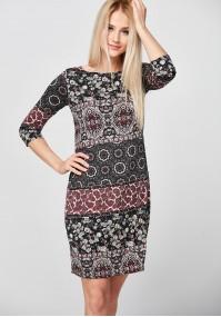 Burgundy and black simple Dress