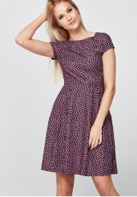 Navy Dress with red dots