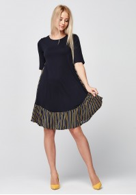 Loose Dress with striped back