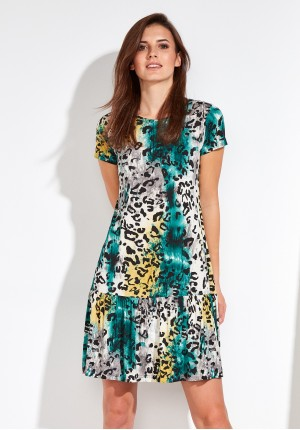 Dress with animal pattern