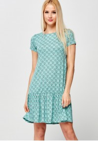 Green Dress with little flowers