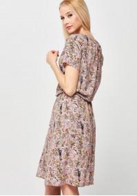 Bluzowana Sukienka w stokrotki