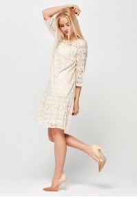 Lace Dress with frill