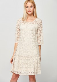 Koronkowa Sukienka z falbaną