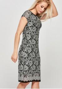 Klasyczna koronkowa Sukienka