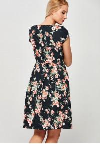 Elegancka Sukienka w pomarańczowe kwiaty