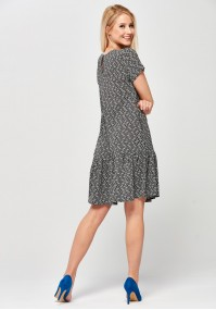 Colorful polka-dot Dress with a frill