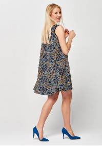 Trapezoidal colorful Dress