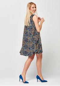 Trapezowa kolorowa Sukienka