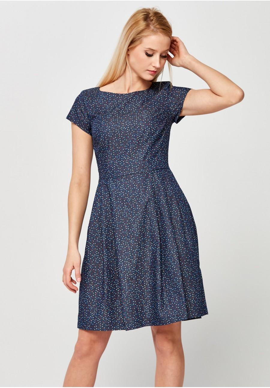 a5cdc820d3 Elegancka Sukienka w kolorowe groszki