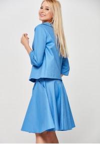 Błękitna rozkloszowana Spódnica