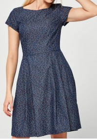 Elegant Dress with colorful dots