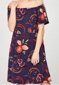 Fioletowo-pomarańczowa Sukienka