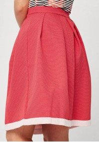 Pink Skirt with white dots