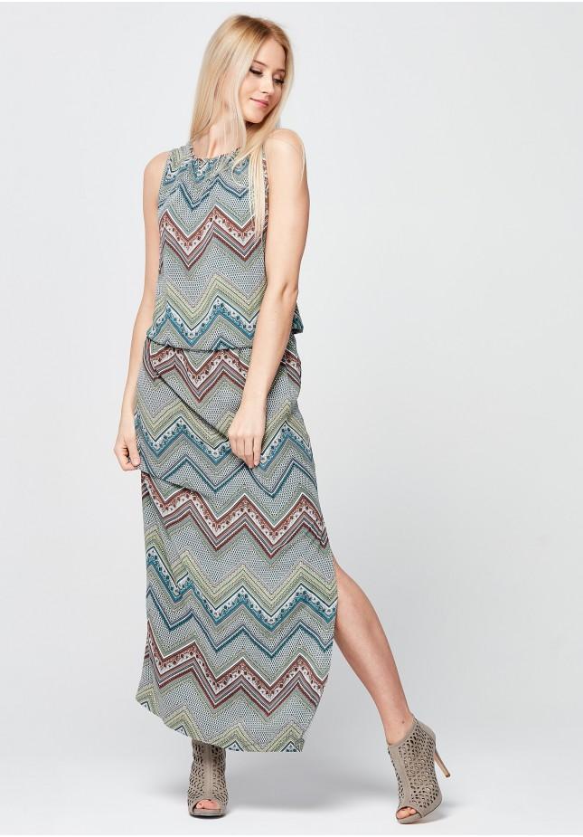Wiosenna sukienka Maxi