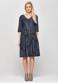 Cotton midi Dress with dandelion