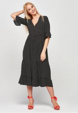 Retro Dress with an envelope neckline