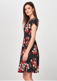 Elegant flared Dress with flowers