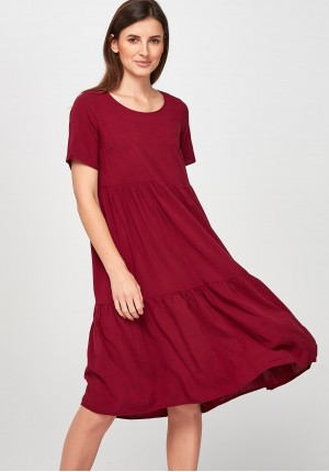 Airy burgundy Dress