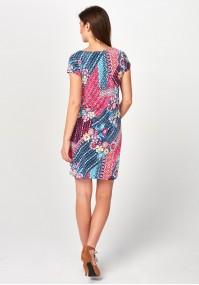 Pink and denim Dress