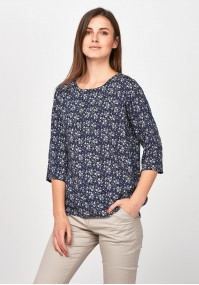 Black blouse with twigs