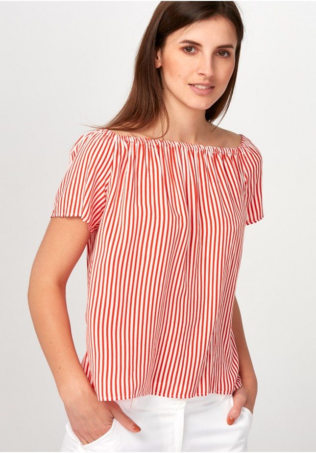 Light red striped Blouse