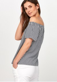 Navy striped Blouse
