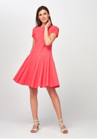 Flared pink Dress