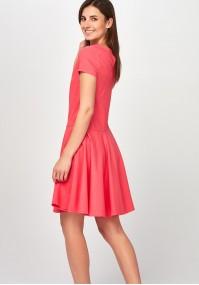 Rozkloszowana malinowa Sukienka