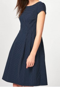 Elegant Dress with white dots