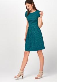 Elegant Green checkered Dress