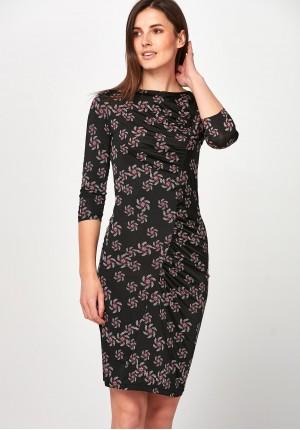 Dark Dress with ruffles