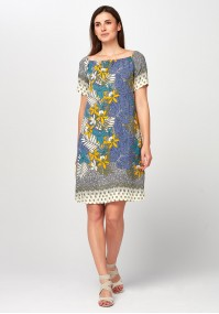 Pastel Dress with leaves