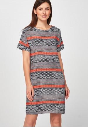 Orange loose Dress