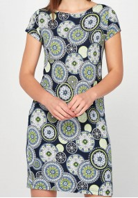 Green Dress with rosette