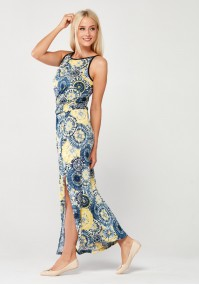 Maxi Dress with yellow mandalas