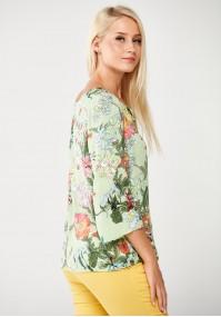 Zielona Bluzka w pastelowe kwiaty