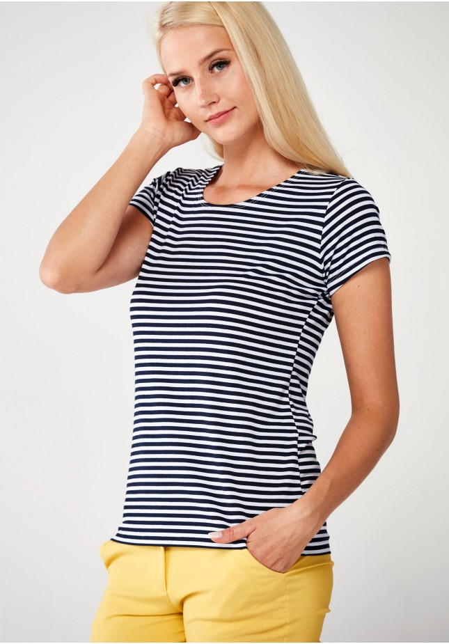 Striped Blouse with short sleeves